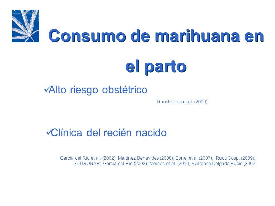 Consumo de marihuana en el parto