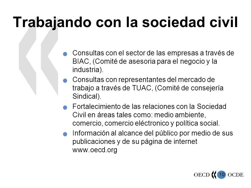 Trabajando con la sociedad civil