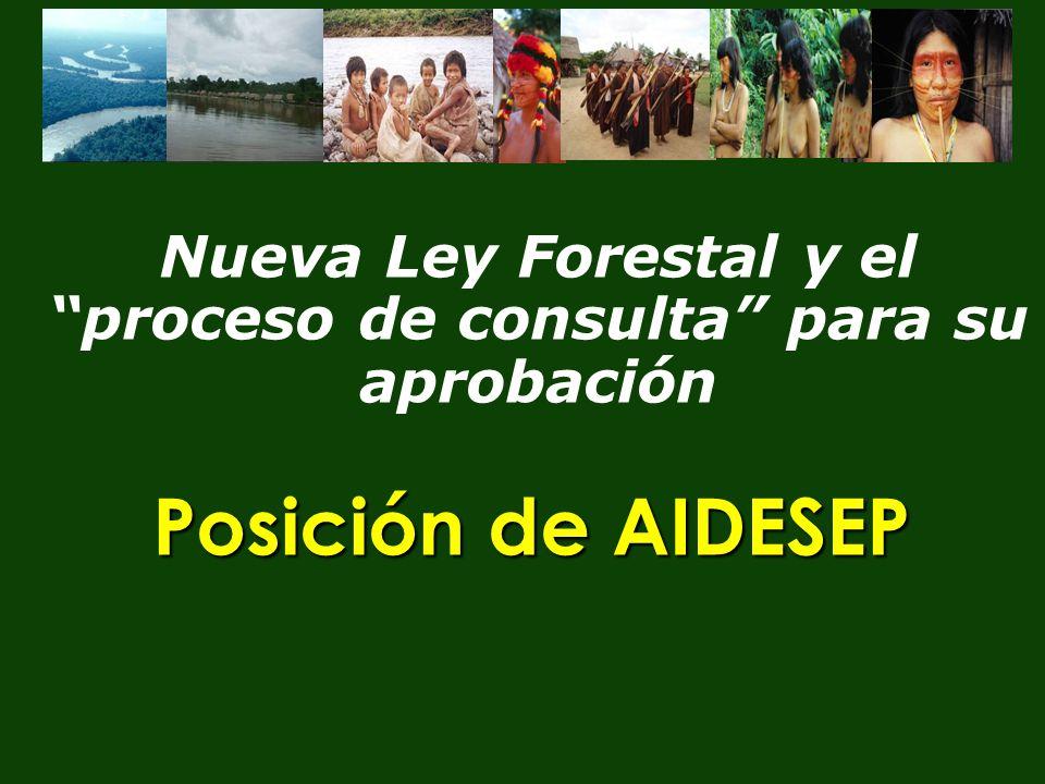 Nueva Ley Forestal y el proceso de consulta para su aprobación