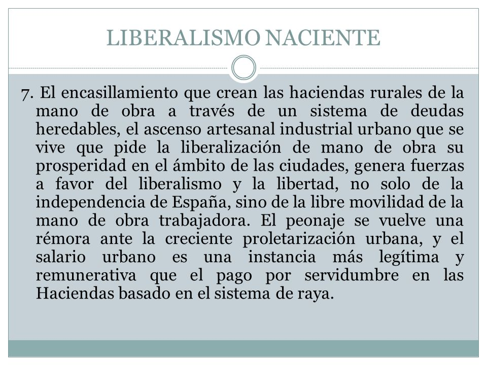 LIBERALISMO NACIENTE