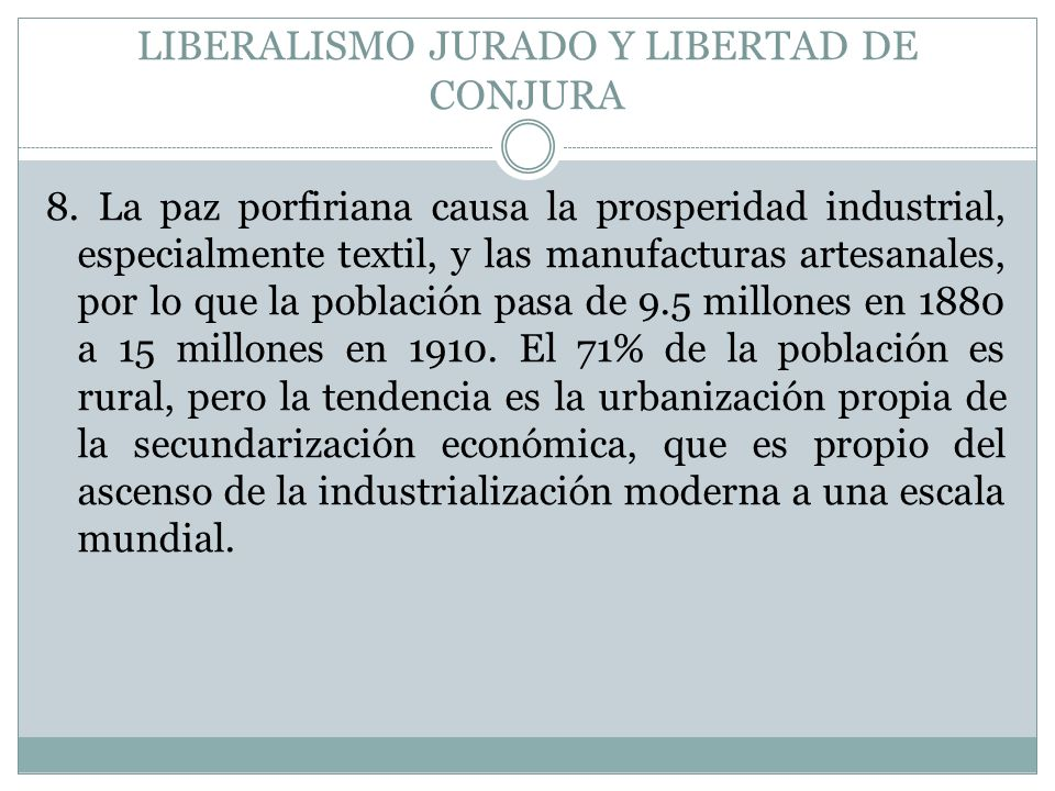 LIBERALISMO JURADO Y LIBERTAD DE CONJURA
