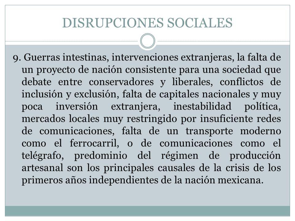 DISRUPCIONES SOCIALES