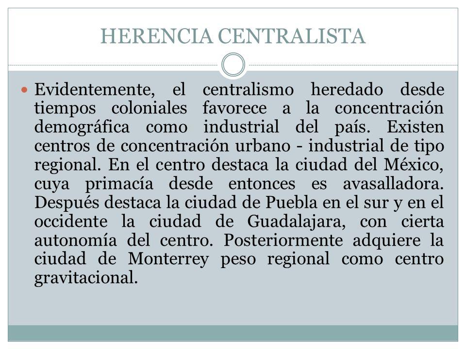 HERENCIA CENTRALISTA
