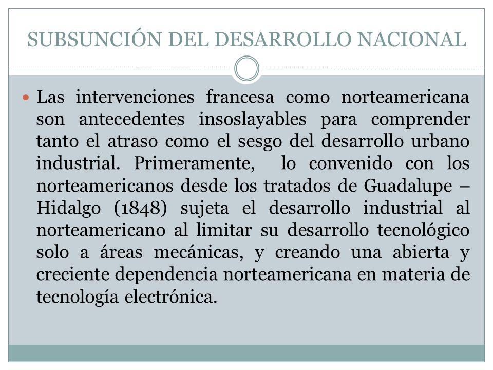 SUBSUNCIÓN DEL DESARROLLO NACIONAL