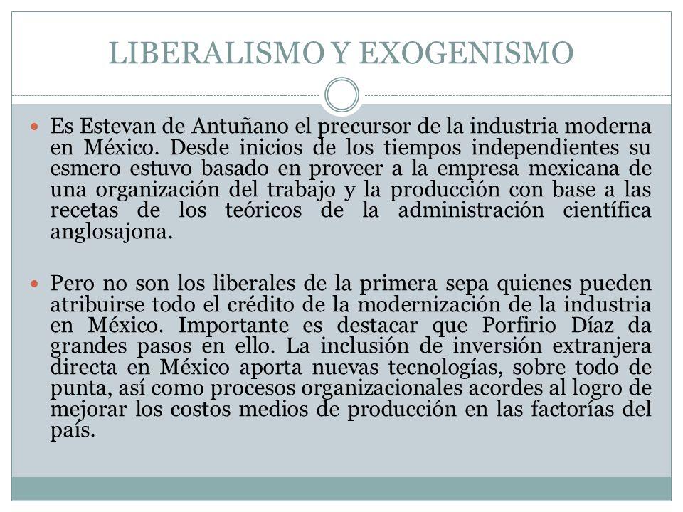 LIBERALISMO Y EXOGENISMO