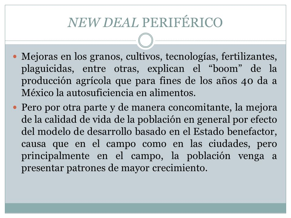 NEW DEAL PERIFÉRICO