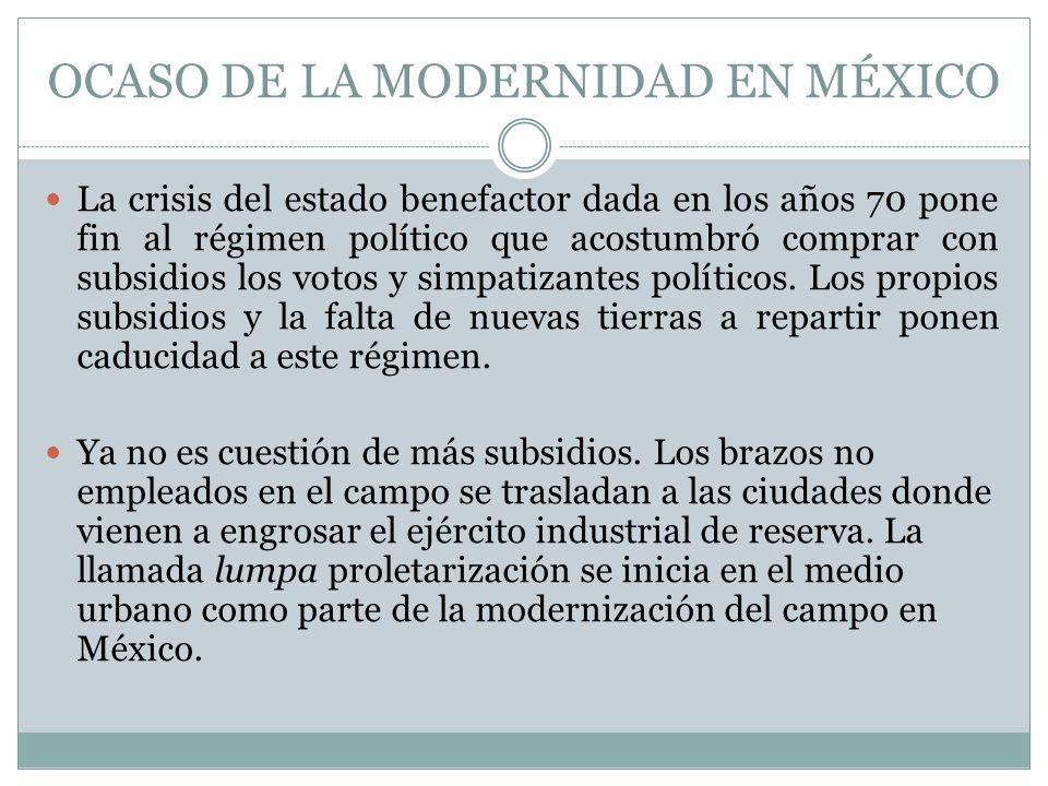 OCASO DE LA MODERNIDAD EN MÉXICO