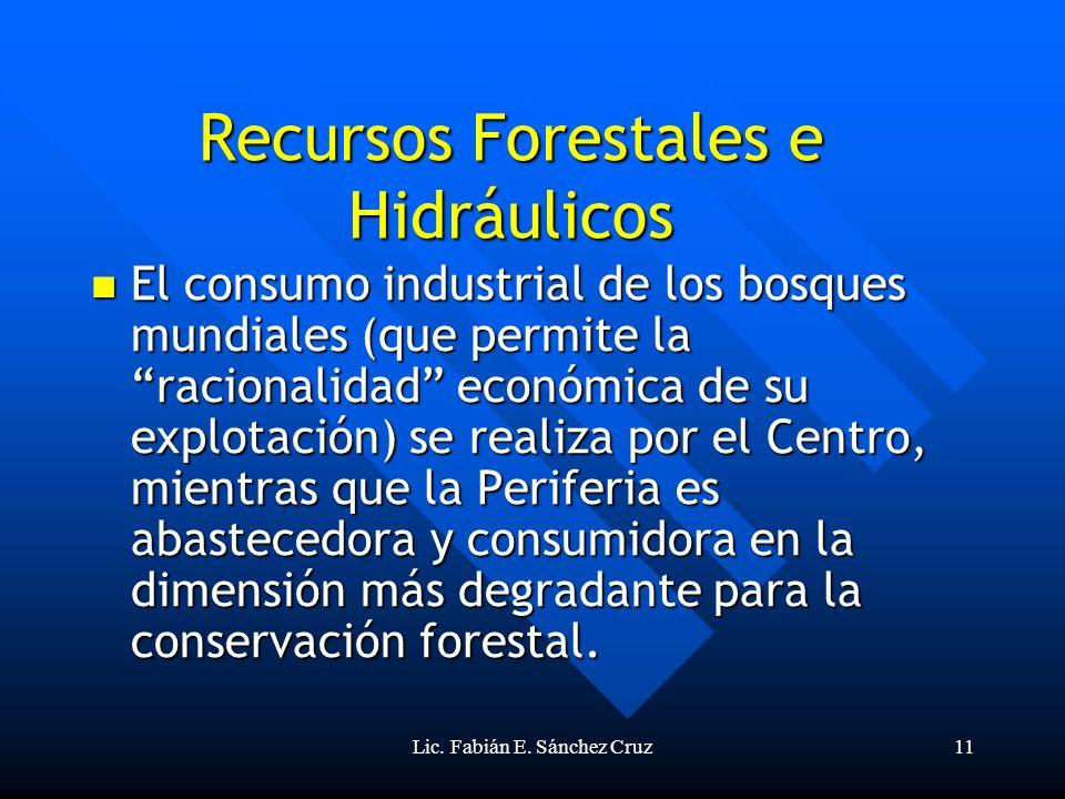 Recursos Forestales e Hidráulicos