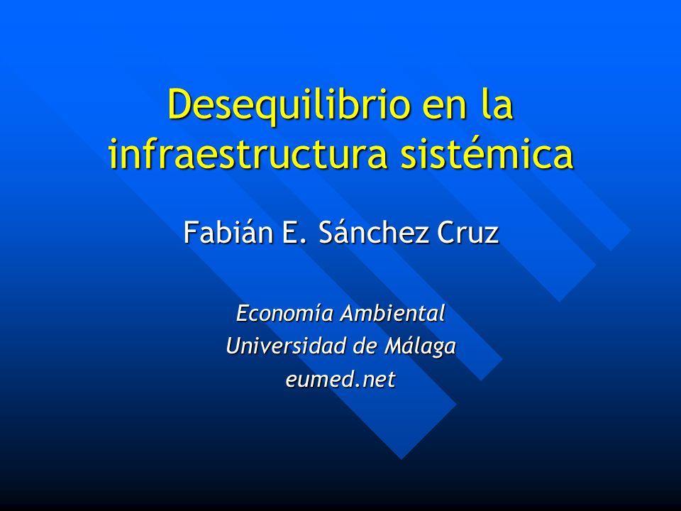 Desequilibrio en la infraestructura sistémica