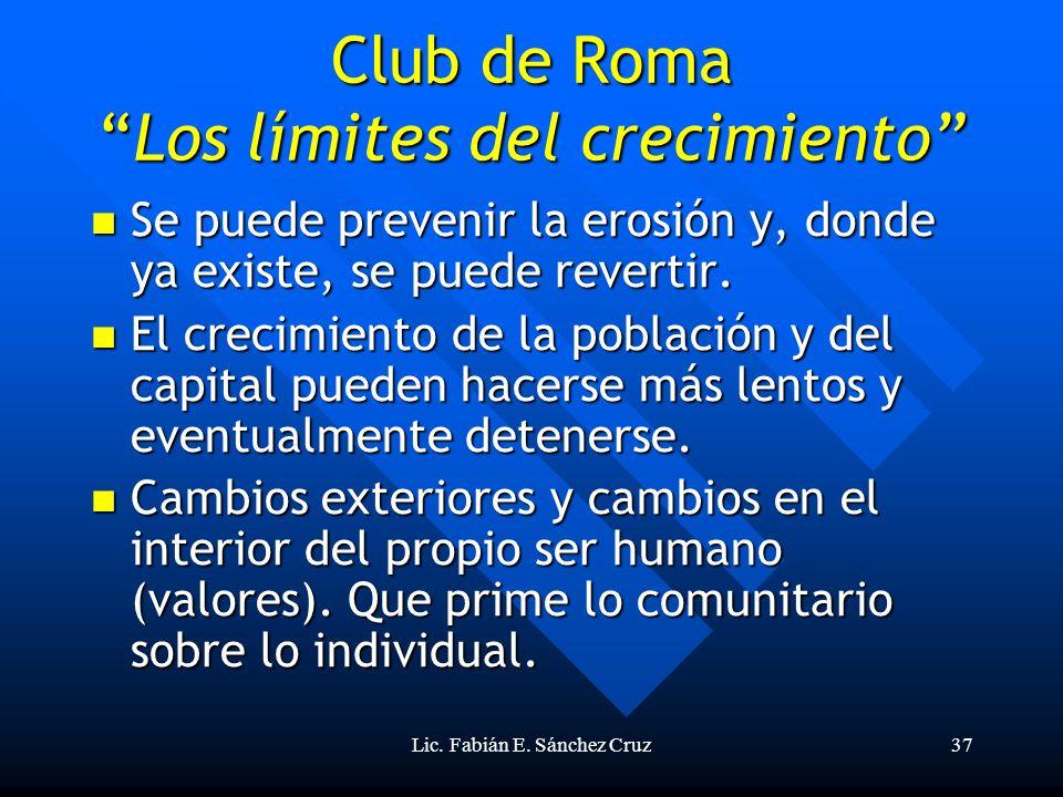 Club de Roma Los límites del crecimiento