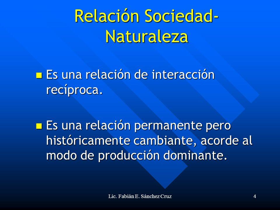 Relación Sociedad-Naturaleza