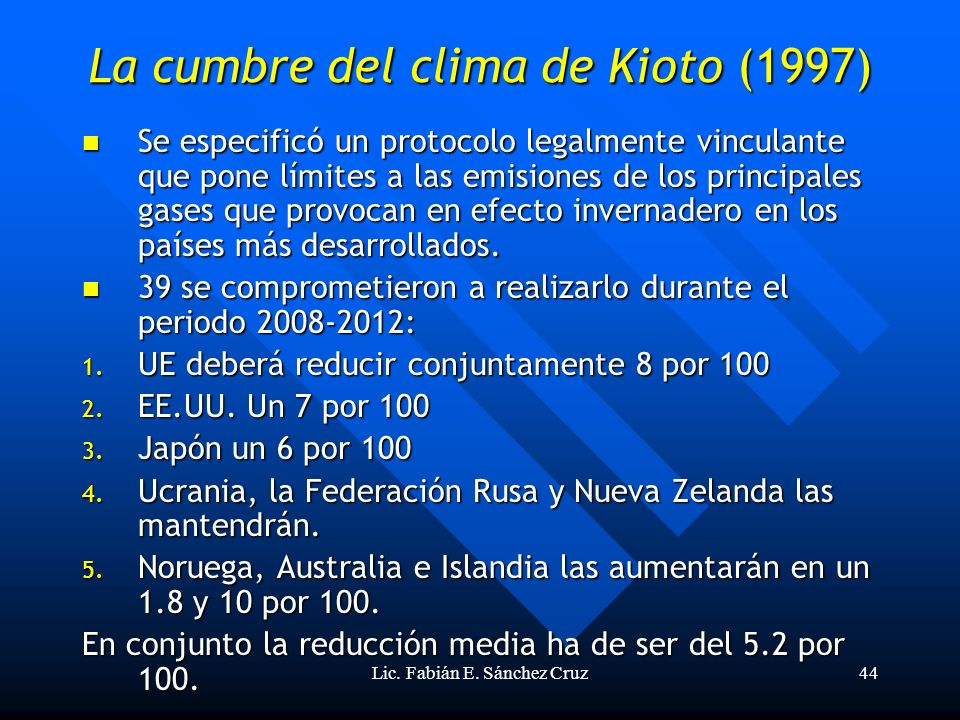 La cumbre del clima de Kioto (1997)