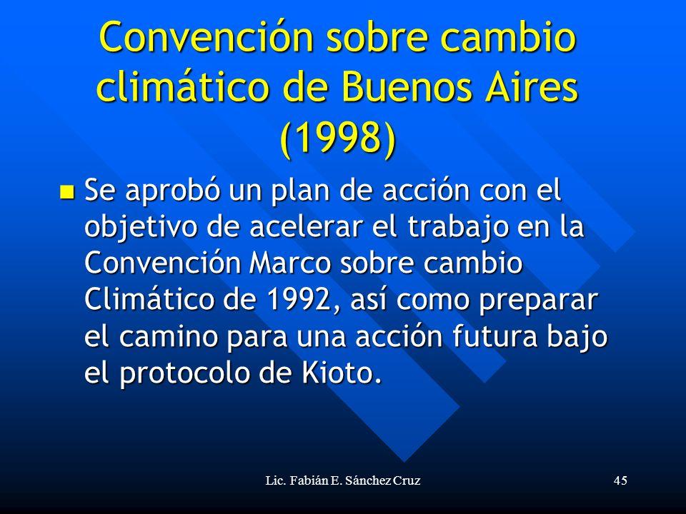 Convención sobre cambio climático de Buenos Aires (1998)