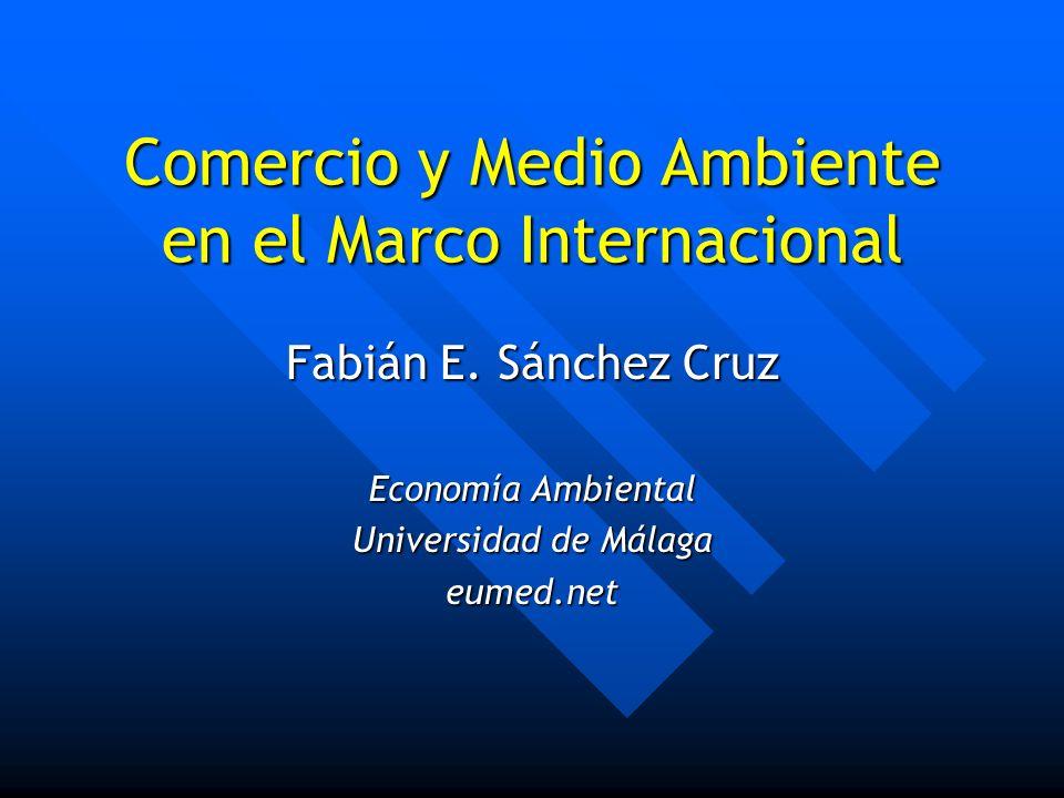 Comercio y Medio Ambiente en el Marco Internacional