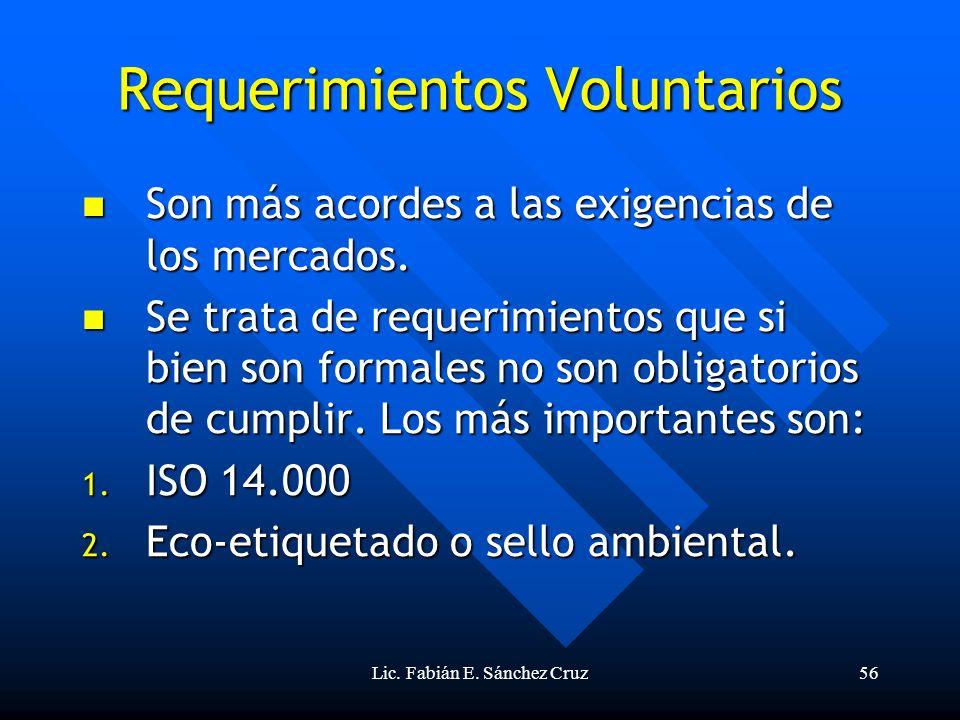 Requerimientos Voluntarios