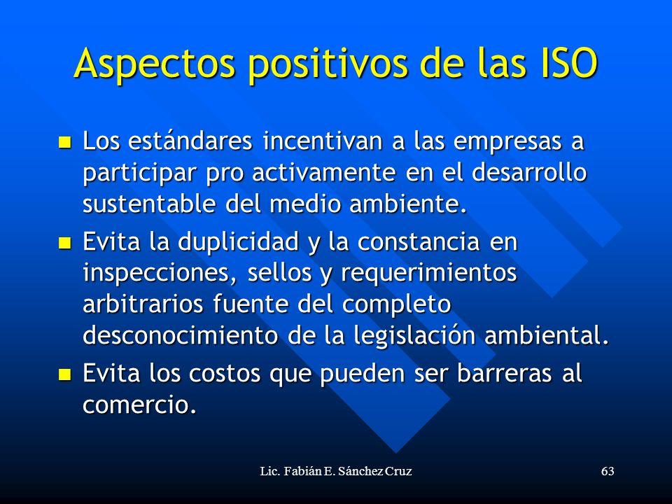 Aspectos positivos de las ISO