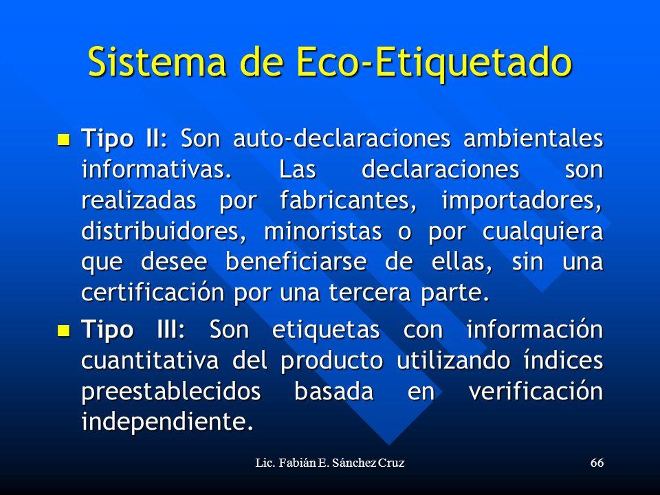 Sistema de Eco-Etiquetado