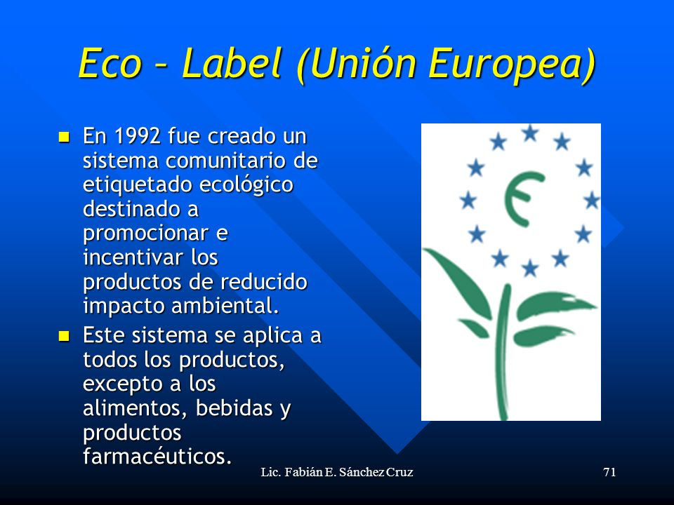 Eco – Label (Unión Europea)