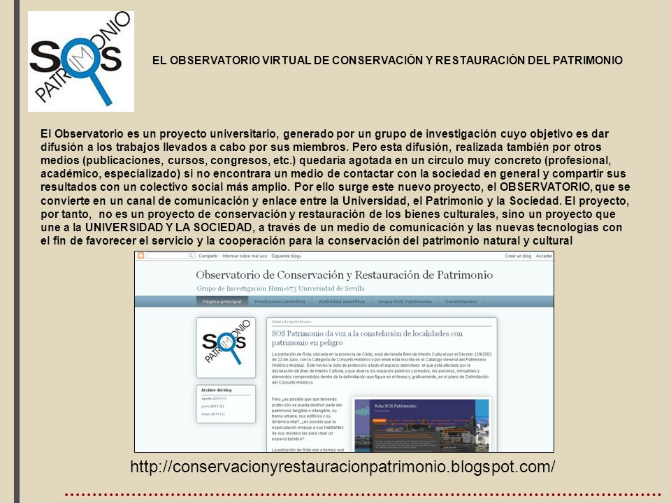 , http://conservacionyrestauracionpatrimonio.blogspot.com/