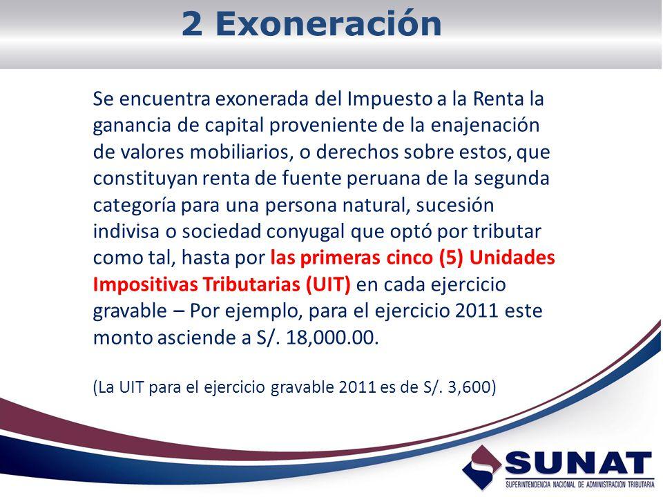 2 Exoneración
