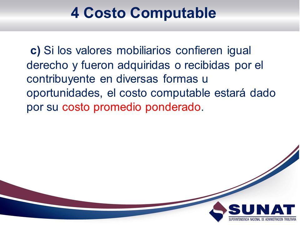 4 Costo Computable