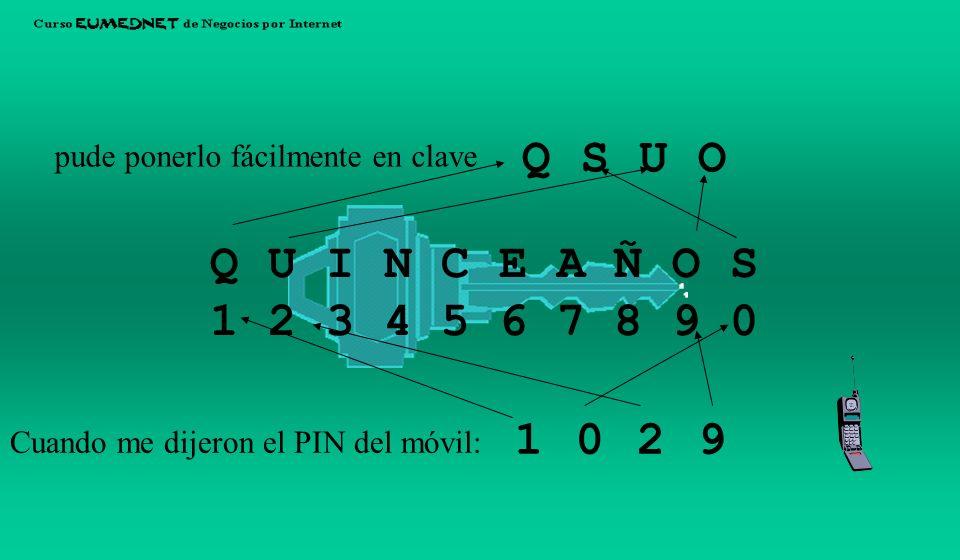 Q S. U. O. pude ponerlo fácilmente en clave. Q U I N C E A Ñ O S. 1 2 3 4 5 6 7 8 9 0. 1. 2.