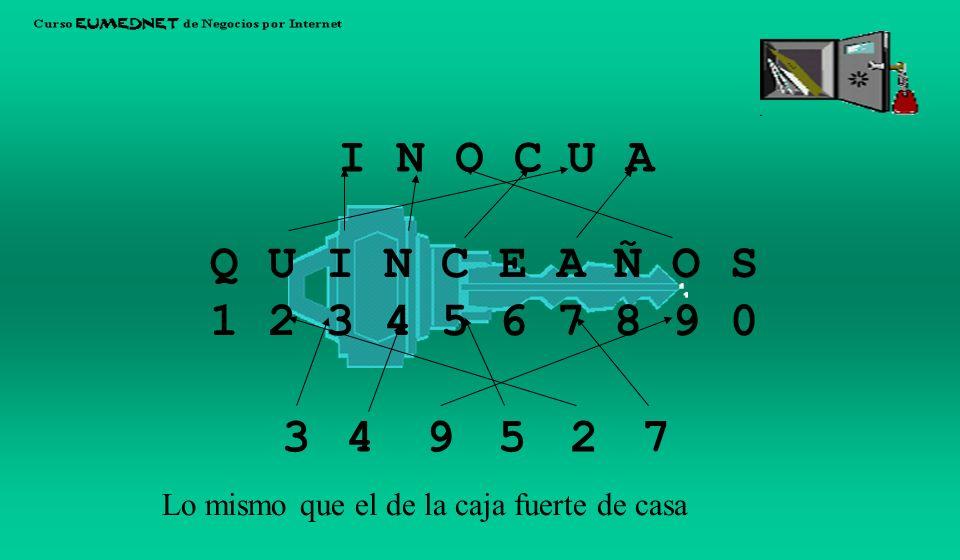 I N. O. C. U. A. Q U I N C E A Ñ O S. 1 2 3 4 5 6 7 8 9 0.