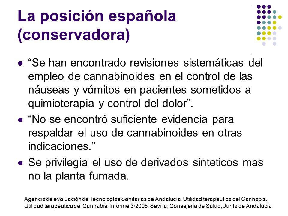 La posición española (conservadora)