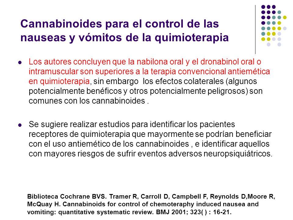 Cannabinoides para el control de las nauseas y vómitos de la quimioterapia
