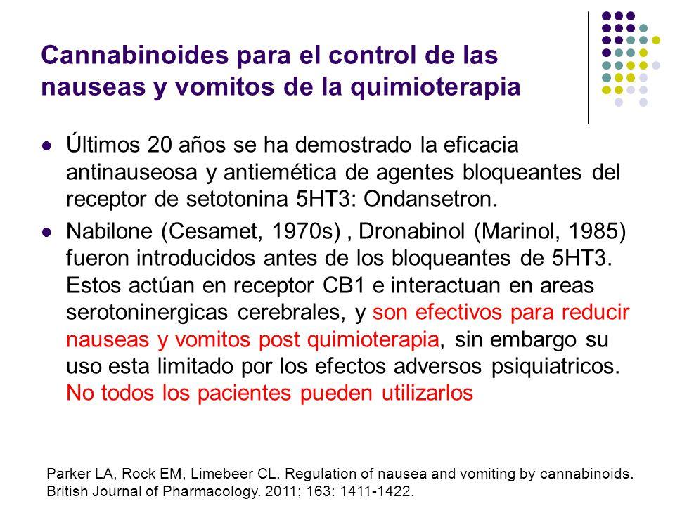 Cannabinoides para el control de las nauseas y vomitos de la quimioterapia