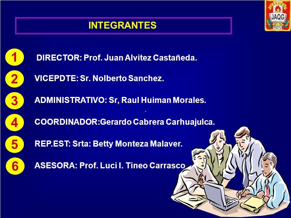 1 2 3 4 5 6 INTEGRANTES DIRECTOR: Prof. Juan Alvitez Castañeda.