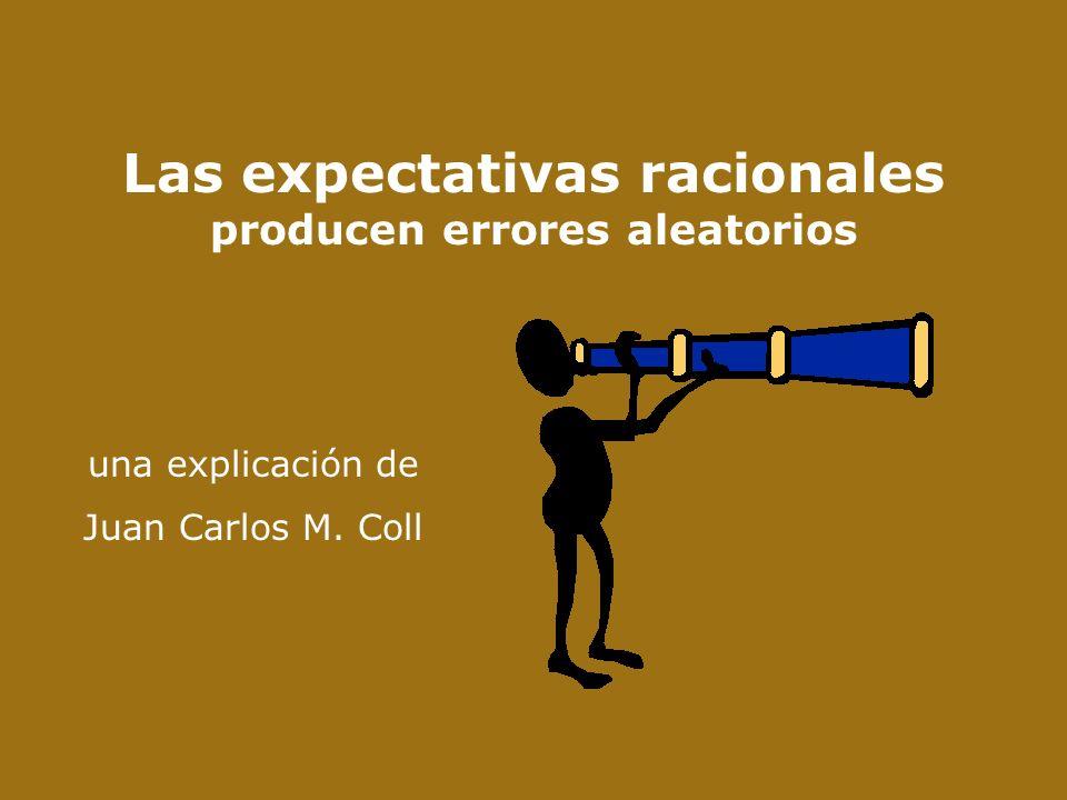 Las expectativas racionales producen errores aleatorios