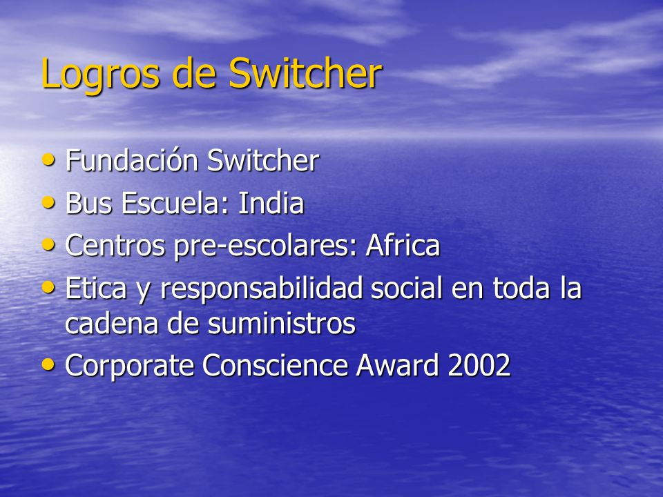 Logros de Switcher Fundación Switcher Bus Escuela: India