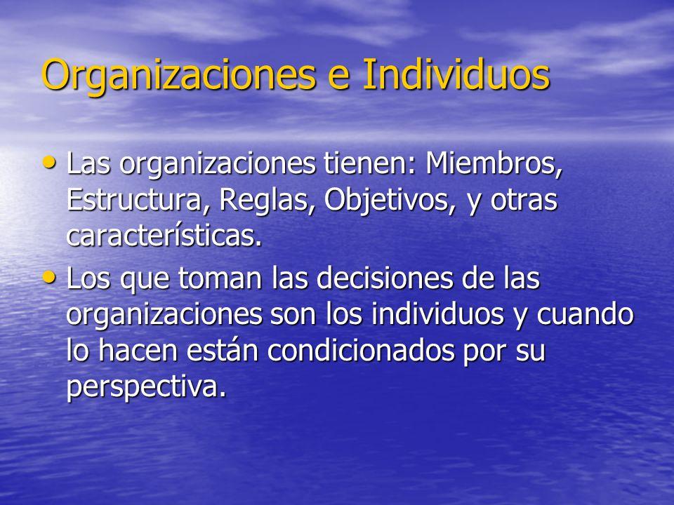Organizaciones e Individuos
