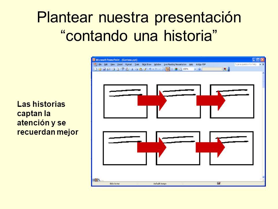 Plantear nuestra presentación contando una historia