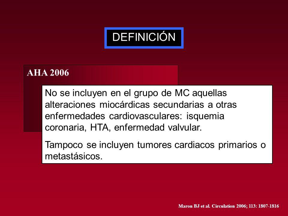 DEFINICIÓN AHA 2006.