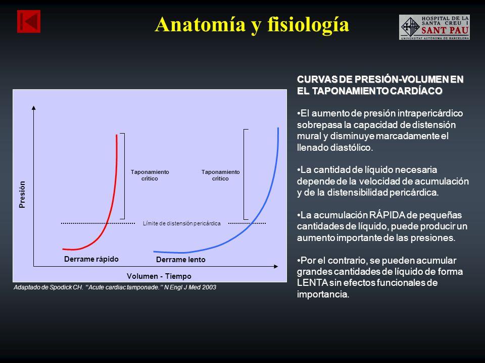 Anatomía y fisiología CURVAS DE PRESIÓN-VOLUMEN EN EL TAPONAMIENTO CARDÍACO.