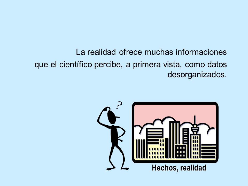 La realidad ofrece muchas informaciones