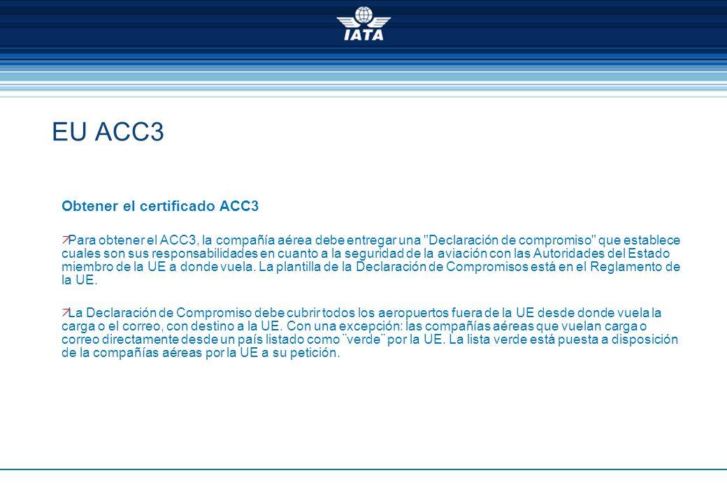 EU ACC3 Obtener el certificado ACC3