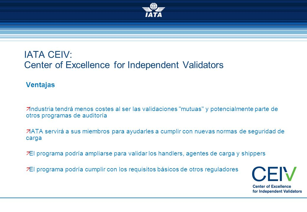 IATA CEIV: Center of Excellence for Independent Validators