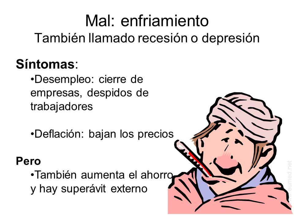 Mal: enfriamiento También llamado recesión o depresión