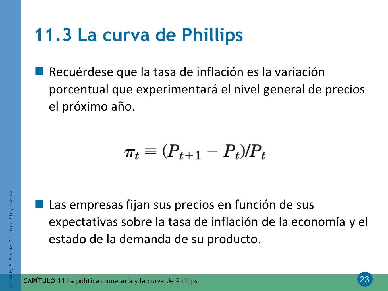 11.3 La curva de Phillips