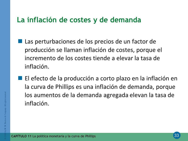 La inflación de costes y de demanda
