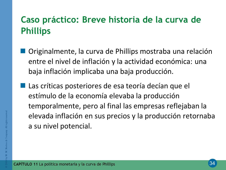 Caso práctico: Breve historia de la curva de Phillips