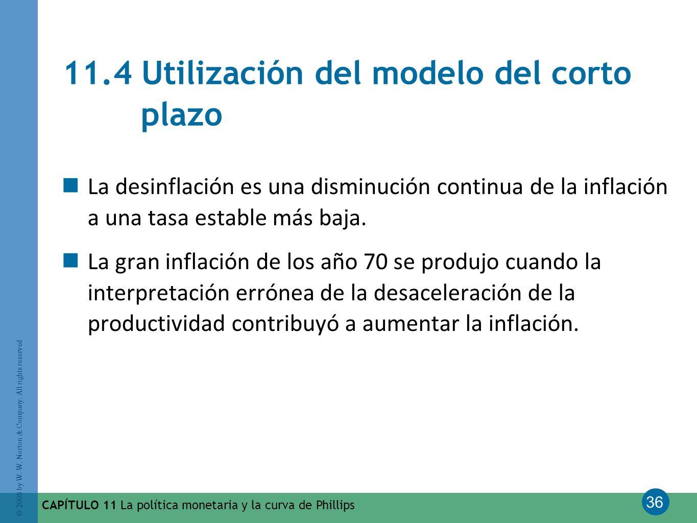 11.4 Utilización del modelo del corto plazo