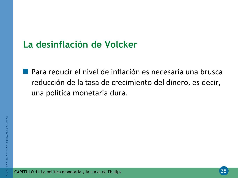 La desinflación de Volcker