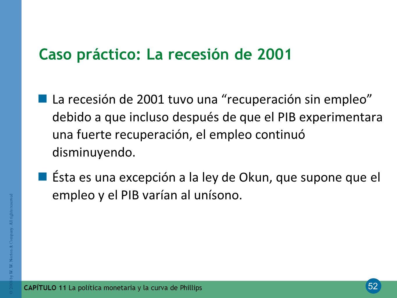 Caso práctico: La recesión de 2001