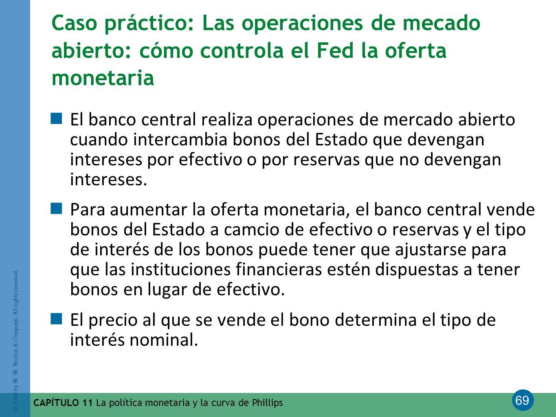 Caso práctico: Las operaciones de mecado abierto: cómo controla el Fed la oferta monetaria