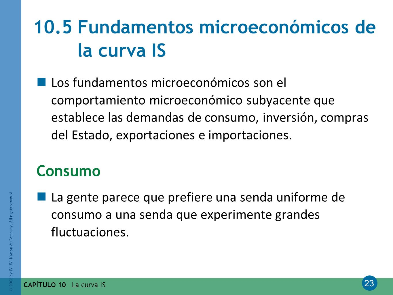 10.5 Fundamentos microeconómicos de la curva IS