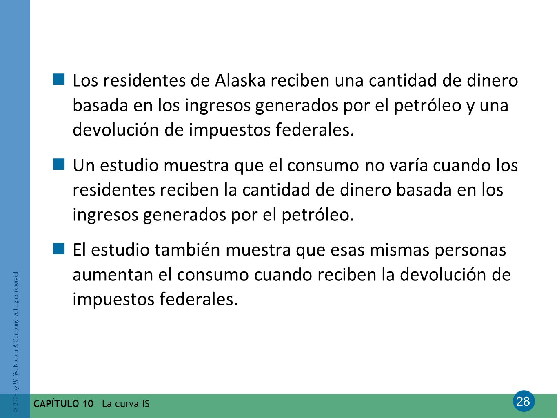 Los residentes de Alaska reciben una cantidad de dinero basada en los ingresos generados por el petróleo y una devolución de impuestos federales.
